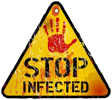 computer virus: signo de alerta de virus inform�tico, vector eps 10