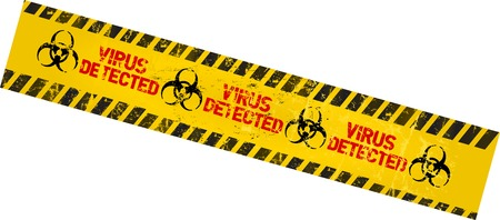 computer virus warning sign Stock Vector - 23649238