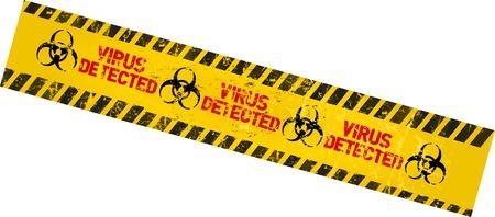 virus alert: computer virus warning sign Illustration
