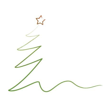 een gestileerde kerstboom, vector eps 10 Stock Illustratie