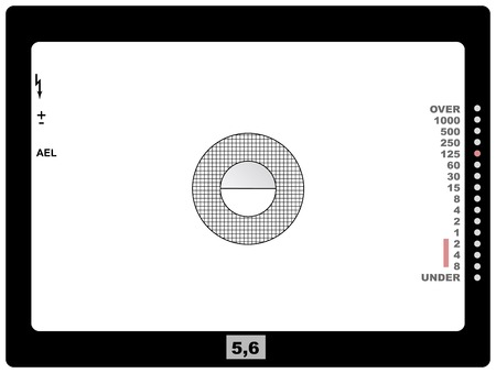 retro SLR viewfinder, with free space for your pics, vector Vector
