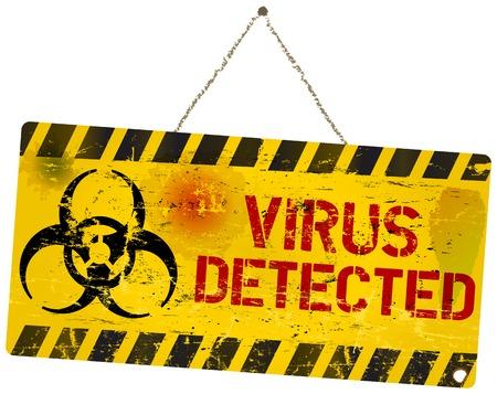 panneau d'avertissement de virus informatique Illustration