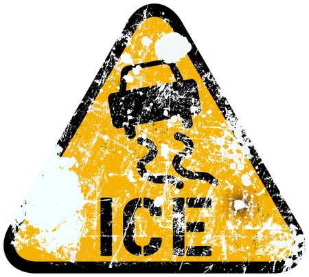 snow storm: ice warning traffic sign, vector illustration Illustration