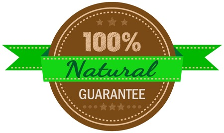 label   hundred per cent natural   ,vector illustration Vector