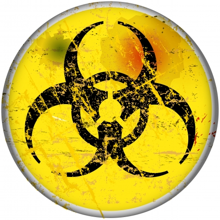 computer virus warning sign, vector, eps 10 Stock Vector - 24029056