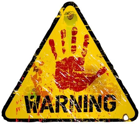 hazard stripes: warning sign, vector illustration
