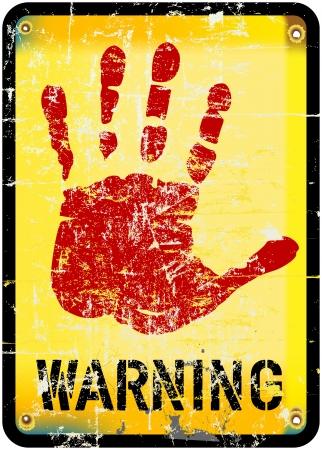 warning sign, vector illustration vector eps 10 Vector