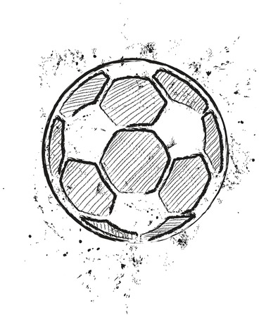 a soccer ball, stylized, vector illustration Vector