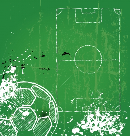 Soccer / Football design template,free copy space, vector  Ilustracja