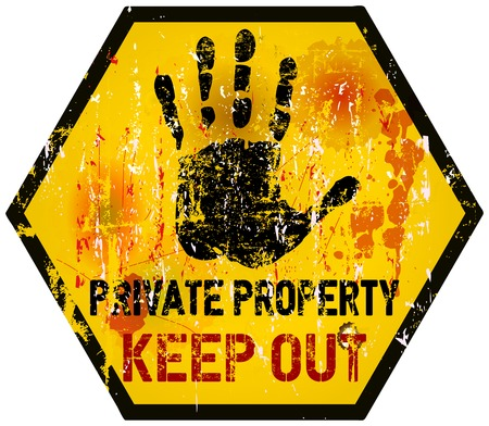 Keep out sign, warning  prohibition sign, vector Vector
