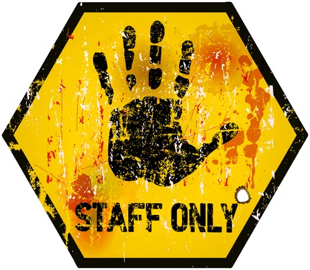 staff only: No entry, staff only sign, vector Illustration Illustration