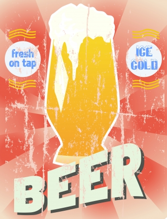 beer house: Retro beer illustration, vector format