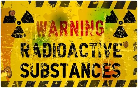 fukushima: radiation warning sign