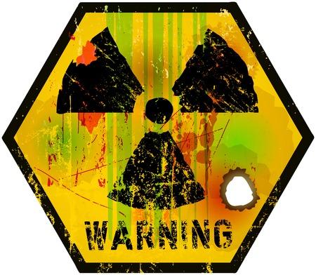 vector nuclear: nuclear radiation sign, vector