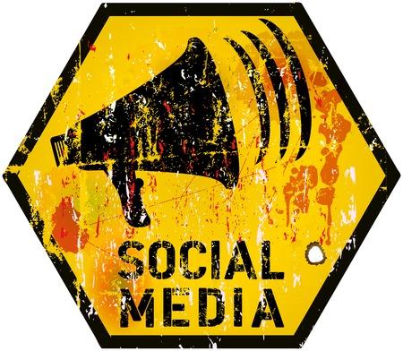 bookmarking: social media sign vector illustration