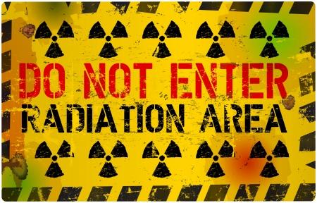 do not enter sign: blank metal sign show do not enter radiation area