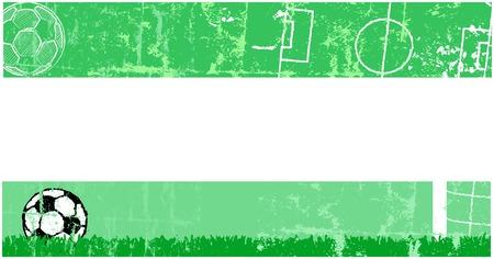 bannière football: Bannière du football du football, copie espace libre, vecteur