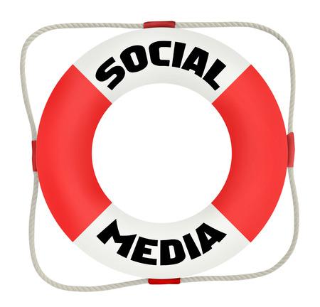 vida social: concepto de medios de comunicación social, protector de la vida, aislados en fondo blanco