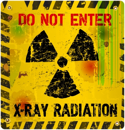 Radiation warning, vector illustration Vector
