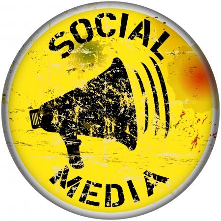 wikis: social media sign, vector illustration