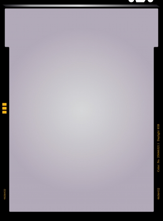 empty sheet film negative, picture frame, vector illustration