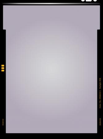filmnegativ: leeres Blatt Negativfilm, Bilderrahmen, Vektor-Illustration