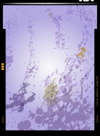 filmnegativ: Blattfilm negativ, Bilderrahmen, Vektor-Illustration