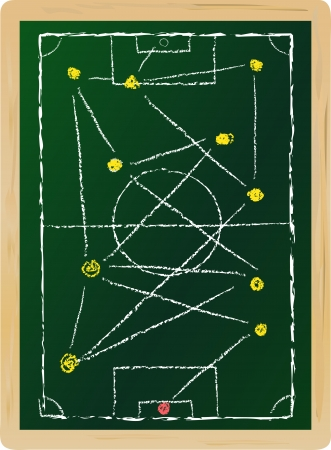 tactical: soccer   football tactical strategy concept, vector illustration