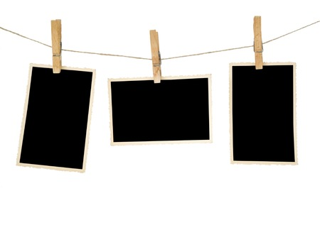 aged photo frames,isolated, free space for your pictures Stock Photo - 24959717