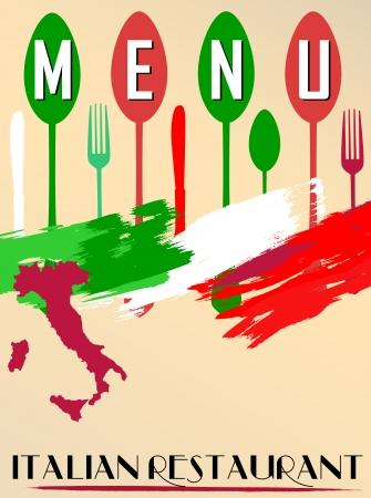 restaurante italiano: Men� para el restaurante italiano, copia espacio libre