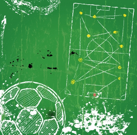 shadow match: Soccer  Football design template,free copy space, vector  Illustration