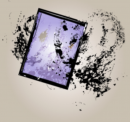 sheet film negative, picture frame, vector illustration Vector