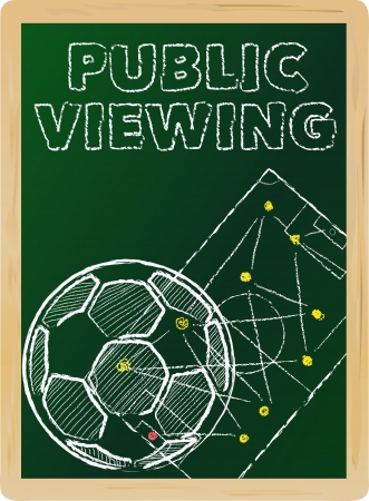 soccer public viewing, free copy space, vector illustration Vector