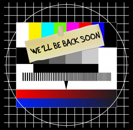 Test pattern, website   TV error sign, vector illustration