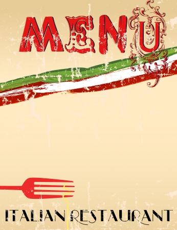 facture restaurant: Menu pour le restaurant italien, un espace exemplaire gratuit