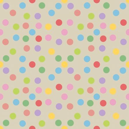 seamless polka dots background,vector Illustration Vector