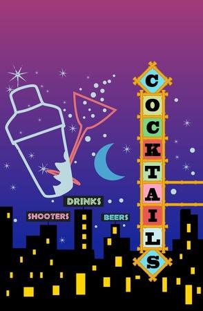 Cocktail menu   advertisement design, free copy space