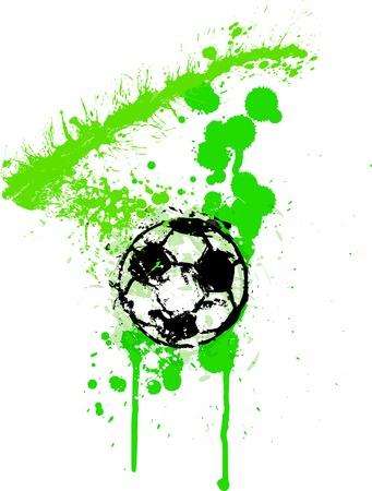 corner kick: Soccer   Football design template,free copy space Illustration