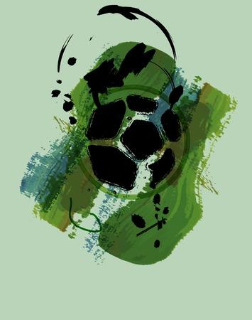 corner kick: soccer   football abstract art design, illustration Illustration