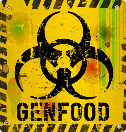 modified: warning sign  genetically modified food