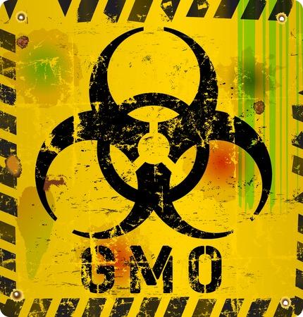 genetically modified: segnale di avvertimento organismo geneticamente modificato