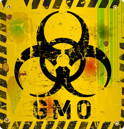 chain food: warning sign  genetically modified organism
