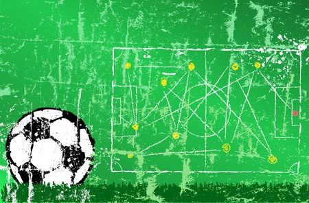 shadow match: Soccer   Football design template,free copy space Illustration