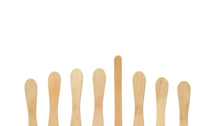 wood stick: icle lolly sticks isolated, free copy space