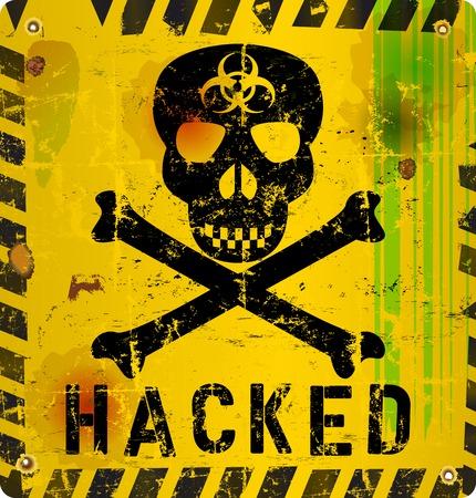 virus alert: computer virus alert sign Illustration