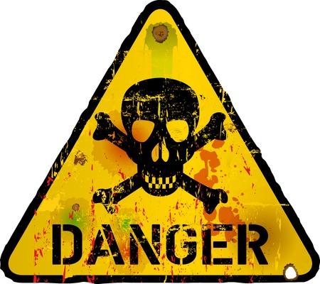 위험 기호, 금지 표지판을 경고