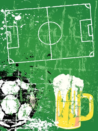 pilsener: Soccer   Football and beer, grunge style