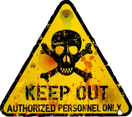 Keep out sign, warning   prohibition sign Vector