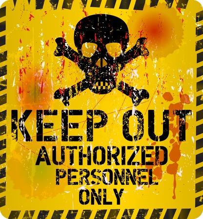 Keep out sign, warning   prohibition sign Ilustração