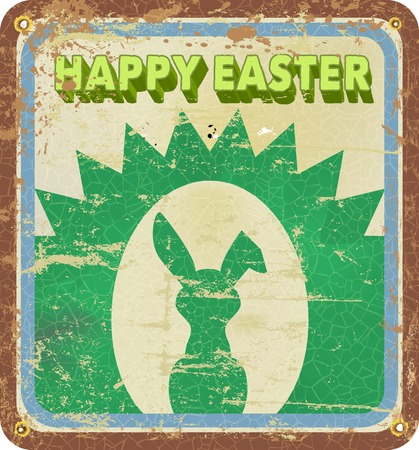 retro easter illustration, vector eps 10 Vector